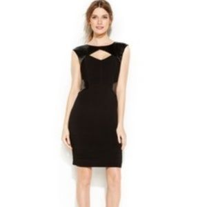 CALVIN KLEIN Black Ribbed Sequin Cut-Out Dress 4